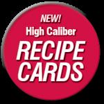 high caliber recipe cards