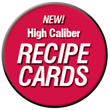 high caliber recipe cards