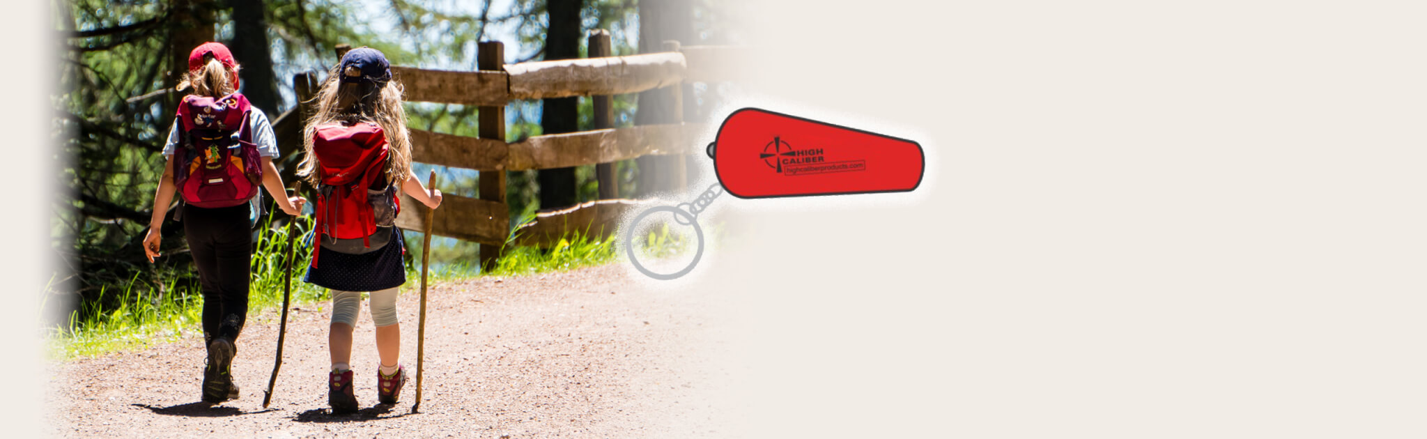 banner whistle keychain high caliber