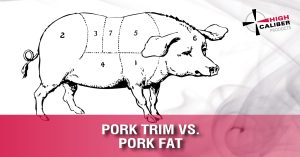 Pork Trim vs. Pork fat High Caliber know your meat block
